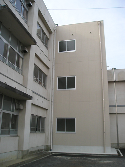 名張高等学校エレベーター設置工事