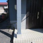 名張市 T様邸 玄関柱補修工事