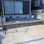 K様邸 庭 防草シート敷込、砂利入れ、植栽工事