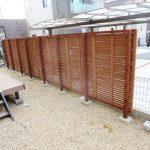 名張市 Y様邸 木製フェンス新設工事